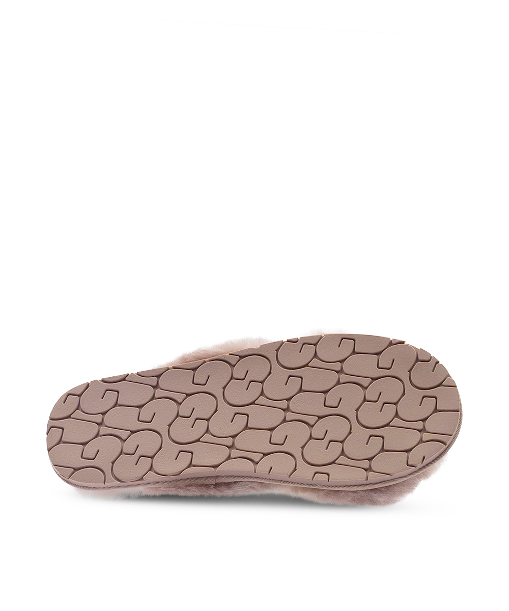 Pink UGG Cross Over Slippers