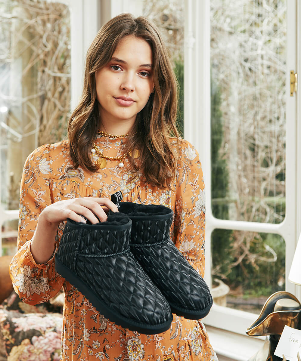 UGG Finley Quilted Mini Boot